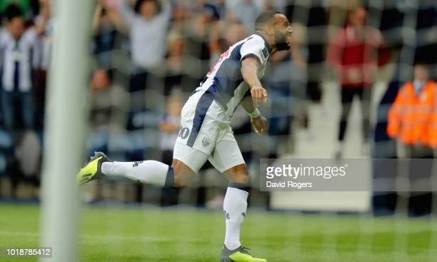 Matt Phillips of West Bromwich Albion celebrates after scoring their seventh goal during the Sky Bet Championship match between West Bromwich Albion...