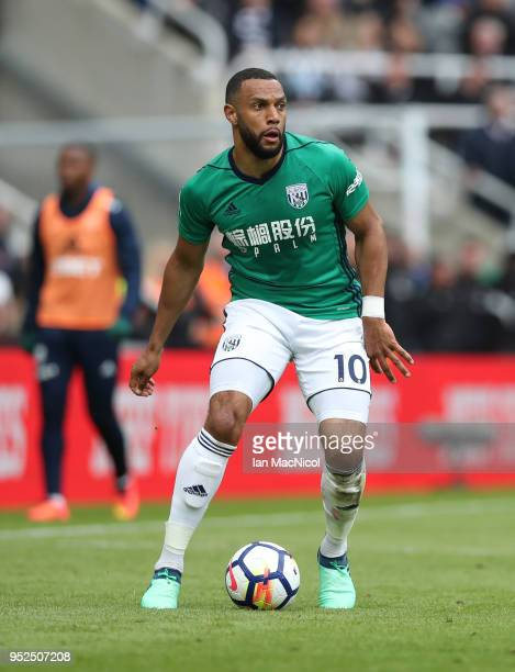 Matt Phillips of West Bromwich Albion controls the ball during the Premier League match between Newcastle United and West Bromwich Albion at St James...