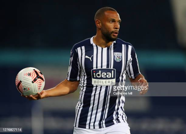 Matt Phillips of West Bromwich Albion prepares to take a throw in during the Premier League match between West Bromwich Albion and Chelsea at The...
