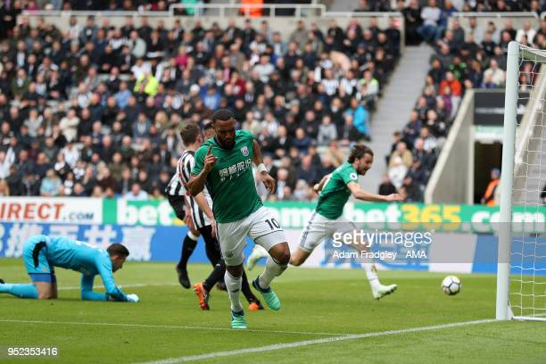 Matt Phillips of West Bromwich Albion scores a goal to make it 0-1 during the Premier League match between Newcastle United and West Bromwich Albion...