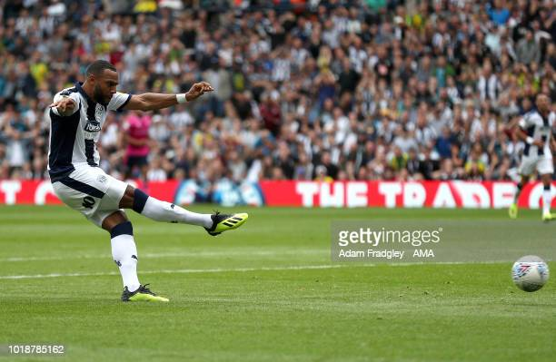 Matt Phillips of West Bromwich Albion scores a goal to make it 1-0 during the Sky Bet Championship match between West Bromwich Albion and Queens Park...