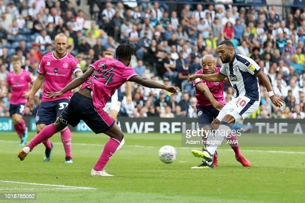 Matt Phillips of West Bromwich Albion scores a goal to make it 6-1 during the Sky Bet Championship match between West Bromwich Albion and Queens Park...