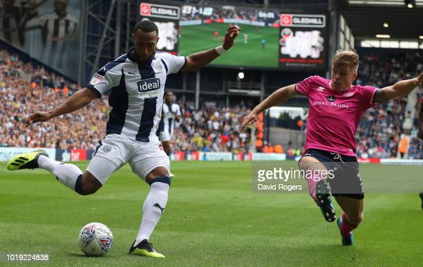 Matt Phillips of West Bromwich Albion takes a shot at goal during the Sky Bet Championship match between West Bromwich Albion and Queens Park Rangers...
