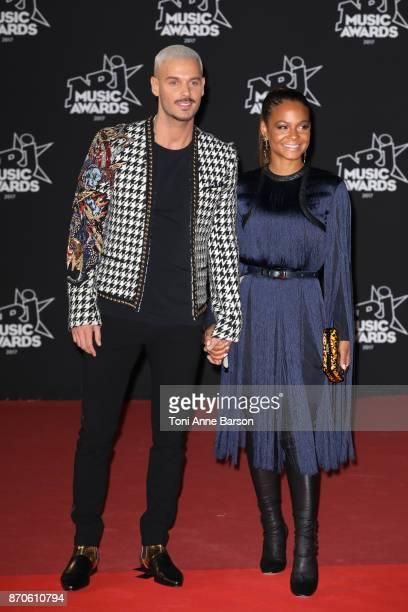 Matt Pokora and Christina Milian arrive at the 19th NRJ Music Awards ceremony at the Palais des Festivals on November 4 2017 in Cannes France