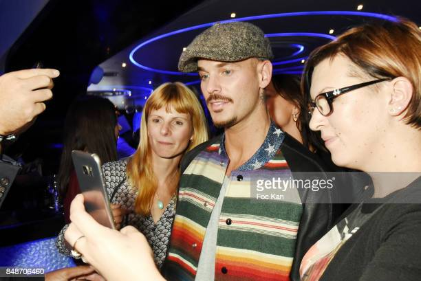 Matt Pokora and fans attend 'Identik' by M Pokora Launch Party at Duplex Club on September 17 2017 in Paris France