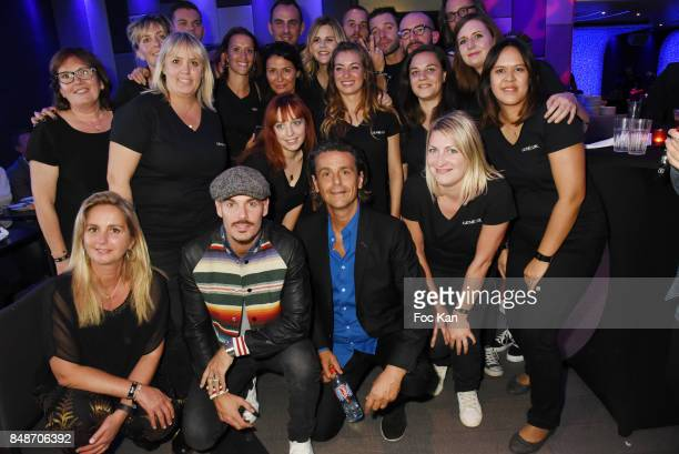 Matt Pokora and Identik team members attend 'Identik' by M Pokora Launch Party at Duplex Club on September 17 2017 in Paris France