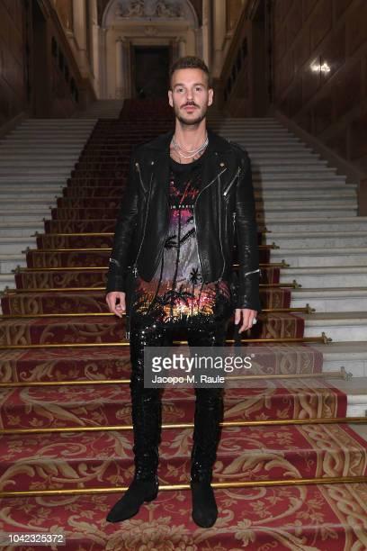 Matt Pokora attends the Balmain show as part of the Paris Fashion Week Womenswear Spring/Summer 2019 on September 28 2018 in Paris France