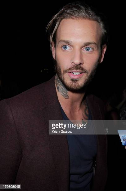 Matt Pokora attends the photocall for 'OORA' Womenswear Collection designed by French singer Matt Pokora at Pavillon Gabriel on September 5 2013 in...