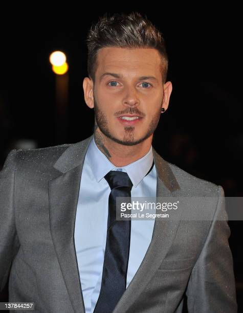 Matt Pokora poses as he arrives at NRJ Music Awards 2012 at Palais des Festivals on January 28 2012 in Cannes France