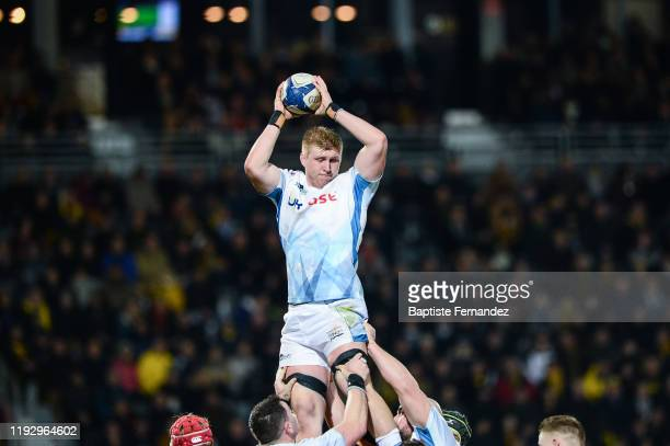 Matt POSTLETHWAITE of Sale Sharks during the European Rugby Champions Cup Pool 2 match between La Rochelle and Sale Sharks at Stade MarcelDeflandre...