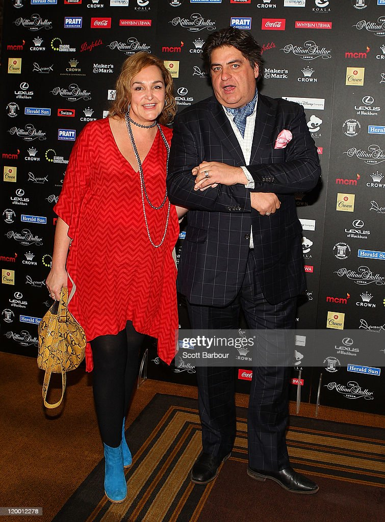 Matt Preston and media personality Kate Langbroek at the annual Million Dollar Lunch fundraiser for children with cancer on July 29, 2011 in Melbourne, Australia.