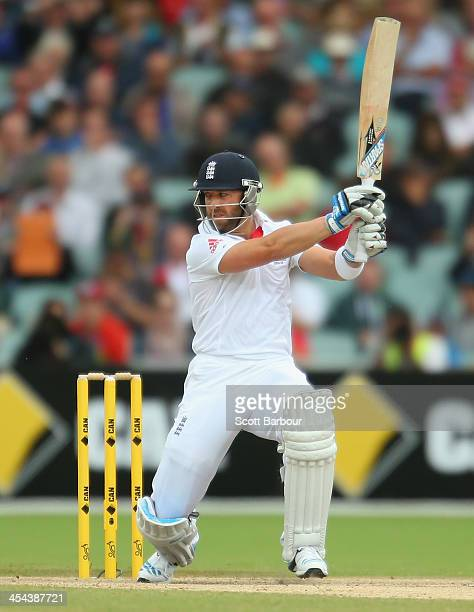 Matt Prior of England bats during day five of Second Ashes Test Match between Australia and England at Adelaide Oval on December 9 2013 in Adelaide...