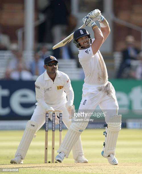 Matt Prior of England bats during day one of 1st Investec Test match between England and Sri Lanka at Lord's Cricket Ground on June 12 2014 in London...