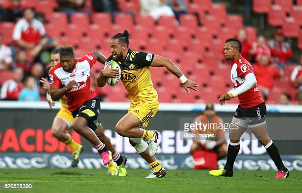 Matt Proctor of the Hurricanes during the round 10 Super Rugby match between Emirates Lions and Hurricanes at Emirates Airline Park on April 30 2016...