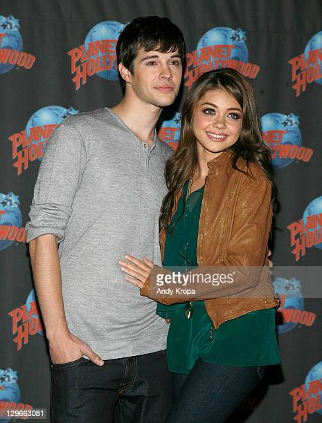 Matt Prokop and Sarah Hyland visit Planet Hollywood Times Square on October 19 2011 in New York City