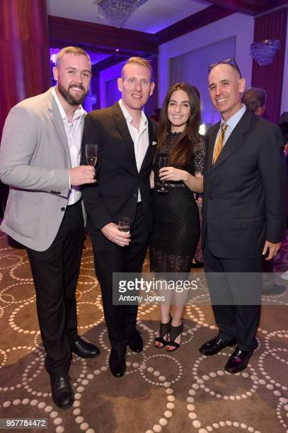 Matt Quigg Brian Oliver Cory Lynch and Eric Greenfeld attend the New Republic Pictures Lounge Event during the 71st annual Cannes Film Festival at...