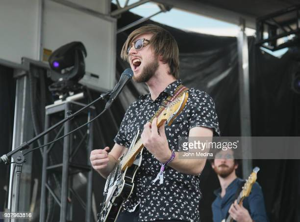 Matt Quin of Mt Joy performs during the 1st annual Innings Festival at Tempe Beach Park on March 25 2018 in Tempe Arizona