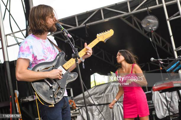 Matt Quinn and Jackie Miclau of Mt Joy performs on Day 3 of the Forecastle Festival at Louisville Waterfront Park on July 14 2019 in Louisville...