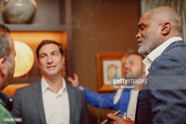 Matt Rachamkin and Cuttino Mobley attend The One And Only, Dick Gregory, Album Release Event on September 16, 2021 in Burbank, California.