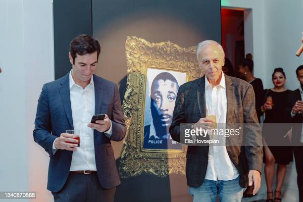 Matt Rachamkin and David Helfant attend The One And Only, Dick Gregory, Album Release Event on September 16, 2021 in Burbank, California.