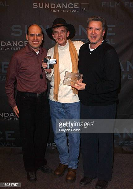 Matt Radecki and Michael Cain codirectors and Rick Kirkham cinematographer and subject of TV Junkie winner of the Special Jury Prize for Documentary