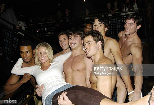 Matt Ratliff and Heather Lang with other Abercrombie & Fitch Models