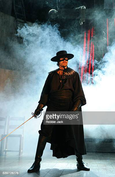 Matt Rawle performs in the production of Zorro the Musical at the Garrick Theatre in London