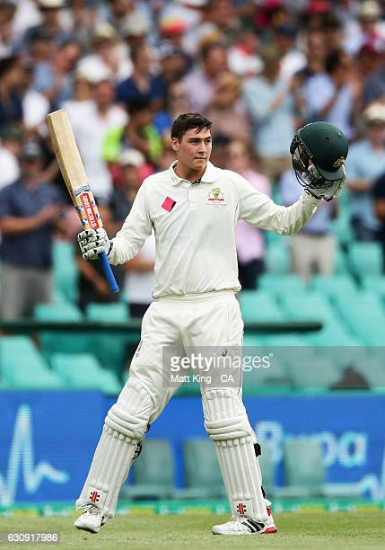 Matt Renshaw of Australia acknowledges the crowd after being dismissed during day two of the Third Test match between Australia and Pakistan at...