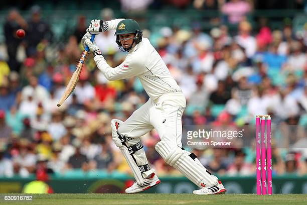 Matt Renshaw of Australia bats during day two of the Third Test match between Australia and Pakistan at Sydney Cricket Ground on January 4 2017 in...