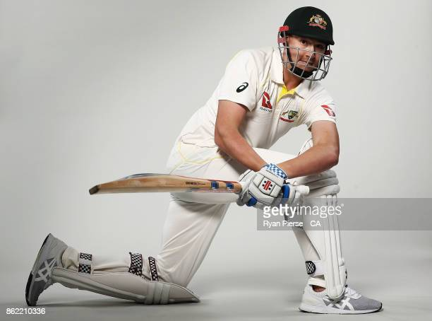 Matt Renshaw of Australia poses during the Australia Test cricket team portrait session at Intercontinental Double Bay on October 15 2017 in Sydney...