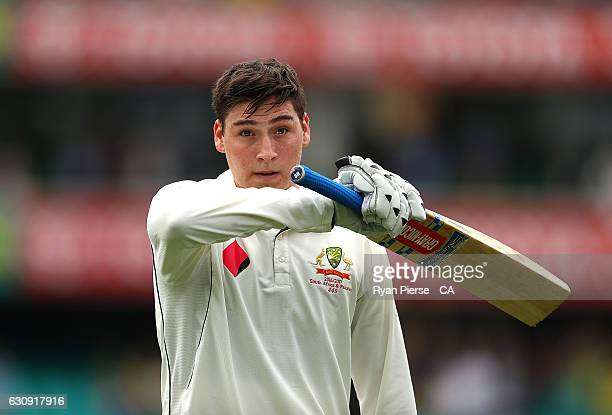 Matt Renshaw of Australia walks from ground after being dismissed for 184 runs during day two of the Third Test match between Australia and Pakistan...