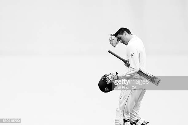Matt Renshaw of Australia walks from the field after being dismissed during day two of the Third Test match between Australia and Pakistan at Sydney...