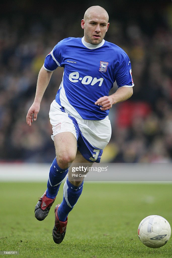 Matt Richards of Ipswich Town in action during the FA Cup sponsored by E.ON 5th Round match between Watford and Ipswich Town at Vicarage Road on February 17, 2007 in Watford, England.