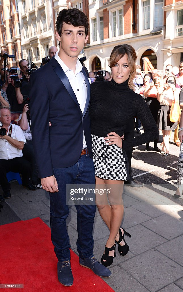 Matt Richardson and Caroline Flack arrive for the X-Factor Press Launch held at The Mayfair Hotel on August 29, 2013 in London, England.