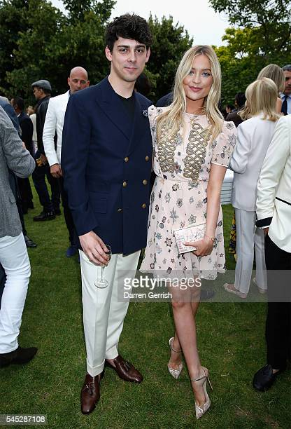 Matt Richardson and Laura Whitmore attend the Serpentine Summer Party cohosted by Tommy Hilfiger at the Serpentine Gallery on July 6 2016 in London...
