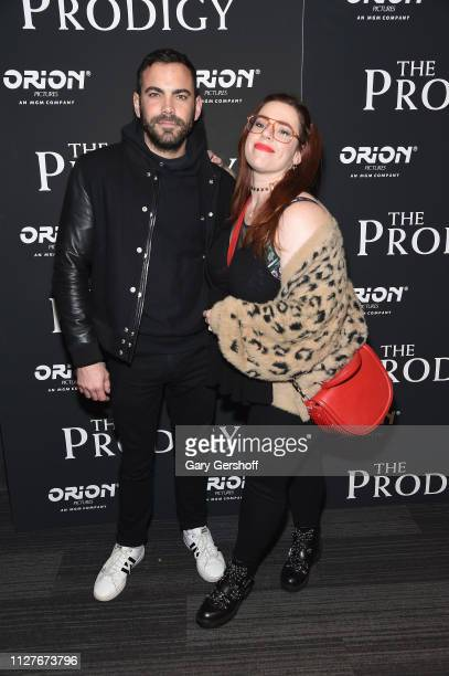 Matt Risch and Alysha Umphress attend the New York special screening of 'The Prodigy' at The Landmark at 57 West on February 05 2019 in New York City