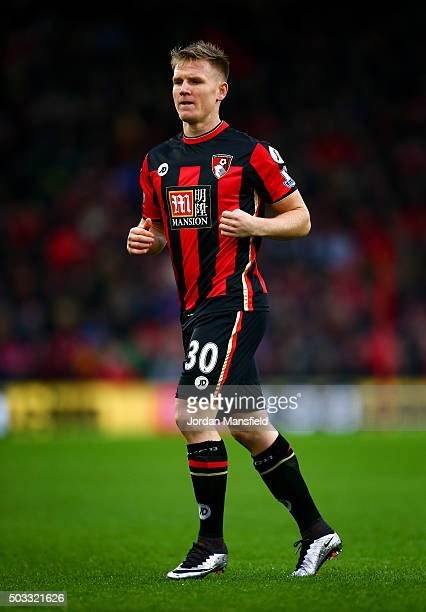 Matt Ritchie of Bournemouth in action during the Barclays Premier League match between AFC Bournemouth and Crystal Palace at the Vitality Stadium on...