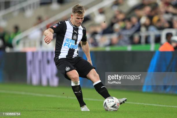 Matt Ritchie of Newcastle United during the FA Cup match between Newcastle United and Rochdale at St James's Park Newcastle on Tuesday 14th January...