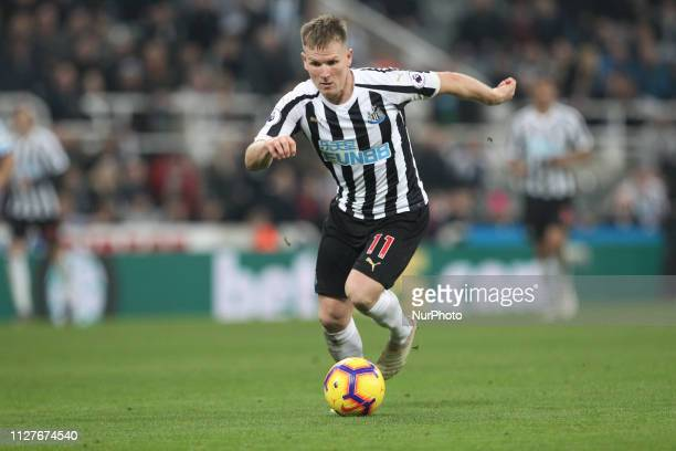Matt Ritchie of Newcastle United during the Premier League match between Newcastle United and Burnley at St James's Park Newcastle on Tuesday 26th...