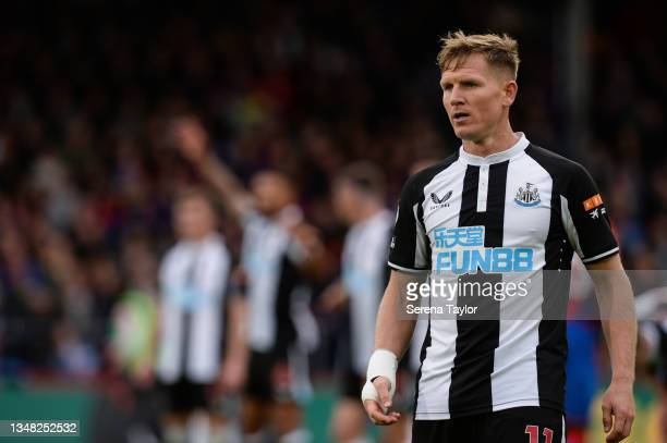 Matt Ritchie of Newcastle United FC during the Premier League match between Crystal Palace and Newcastle United at Selhurst Park on October 23, 2021...