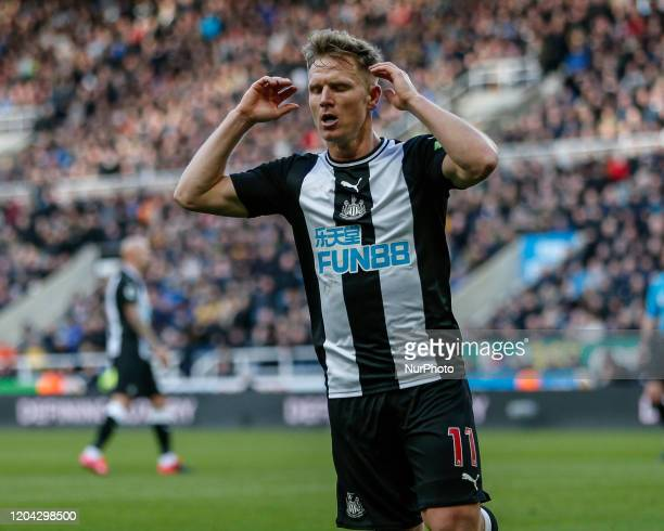 Matt Ritchie of Newcastle United shows his disappointment during the Premier League match between Newcastle United and Burnley at St James's Park...