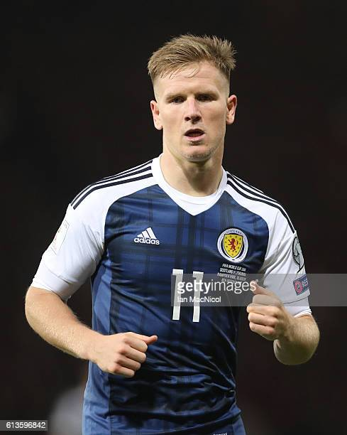 Matt Ritchie of Scotland is seen during the FIFA 2018 World Cup Qualifier between Scotland and Lithuania at Hampden Park on October 8 2016 in Glasgow...
