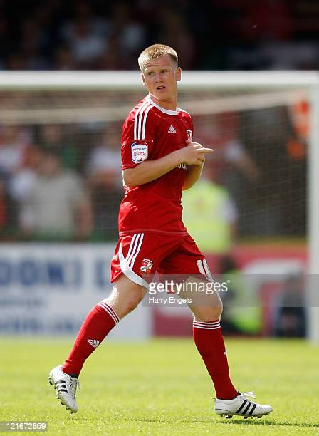 Matt Ritchie of Swindon Town in action during the npower League Two match between Swindon Town FC and Oxford United at the County Ground on August 21...