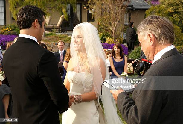 Matt Robinson and singer Natasha Bedingfield during their wedding ceremony held at Church Estate Vinyards on March 21 2009 in Malibu California