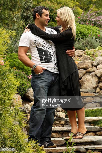 Matt Robinson and singer Natasha Bedingfield lounge the day before their wedding ceremony of singer held at Church Estate Vinyards on March 20 2009...