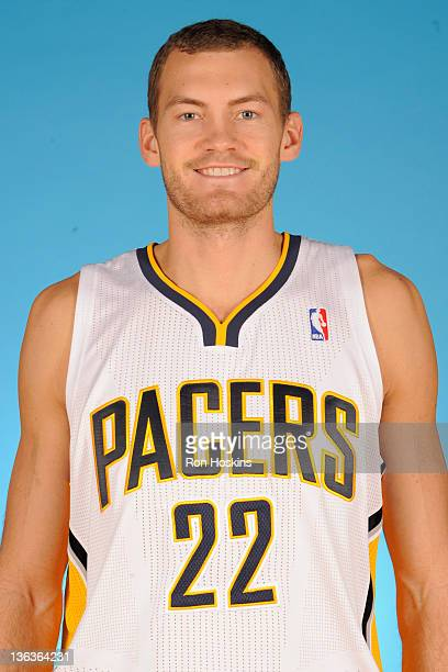 Matt Rogers of the Indiana Pacers poses for a photo during the media day on December 14 2011 at Conseco Fieldhouse in Indianapolis Indiana NOTE TO...