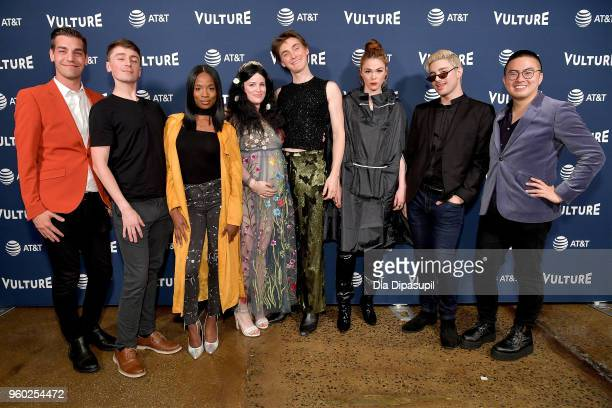 Matt Rogers Pat Regan Sydnee Washington Annie Donley Peter Smith Mo Fry Pasic Dave Mizzoni and Bowen Yang attend the Vulture Festival Presented By...