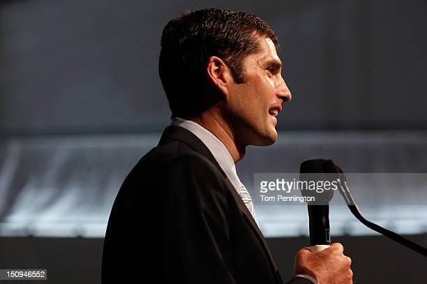 Matt Romney son for Republican presidential candidate Mitt Romney speaks at the 'Patriots for RomneyRyan Reception' on August 29 2012 in Tampa...