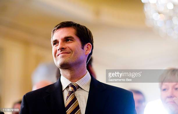 Matt Romney son of Republican presidential hopeful Mitt Romney appears at the California State Republican party at the Westgate Hotel in San Diego...