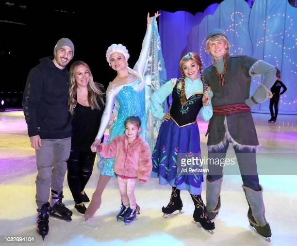 Matt Rosenberg Haylie Duff Elsa Ryan Rosenberg Anna and Kristoff attend Disney On Ice Presents Dare to Dream Celebrity Skating Party at Staples...